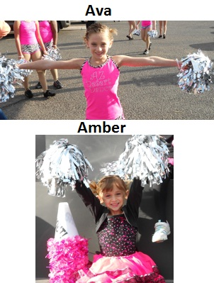 Ava, 9 and Amber, 4 - Instructor, Kathy Leano 5-1-2012
